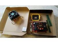 CPU processor, RAM memory, GPU graphics card bundle