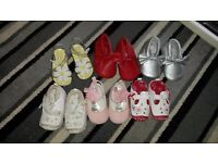 Baby shoes not a mark on them only worn once or twice as pram shoes.