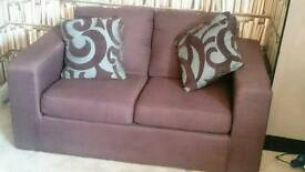2 seater fabric sofa