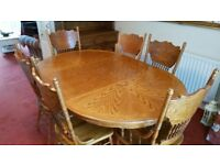 DINING TABLE 8 CHAIRS ALSO AVAILABLE MATCHING DRESSER