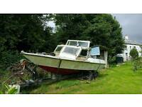 21 foot boat with trailer and Mercury 80 outboard