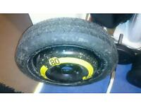 Vw polo continental spare tyre 105/70/r14