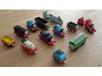 Selection of small Mattel Take-n-Play trains. Thomas the Tank Engine. 3 of them say catchphrases