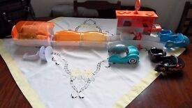 Zhu Zhu Hamsters, set of four interactive pets, with Pizza hut and garage sets etc, £29