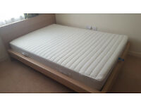 Double IKEA bed and matress for sale