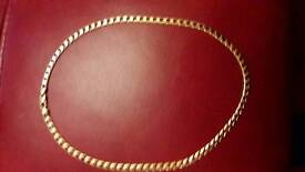 9 ct gold gents chain 20 inch
