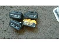 18v Makita batteries x dewalt battery