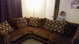 brown corner sofa very good condition