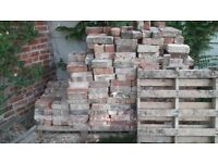 Reclaimed bricks - about 700 soft red cleaned bricks perfect for garden wall or feature
