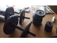 CAST IRON WEIGHTS DUMBELLS ( HEAVY.