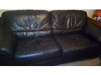 Large black leather sofabed with metal frame double bed, too big for our lounge, £45 o.n.o.