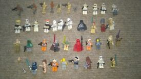 LEGO MINIFIGURES 40 LEIA YODA DARTH VADAR COUNT DOOKU LOBO NUTE GUNRAY CLONES DROIDS CHEWBACCA