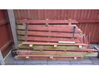Old fence materials - good for log burner? **FREE TO COLLECTOR**