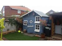 8ft x 6ft Childrens Play house , very good quality with opening windows and second floor
