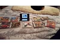 NINTENDO DS XL WITH 9 GAMES