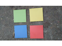 Coloured Tiles.