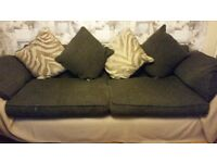 Large 4 seater sofa and 2 seater round sofa