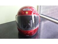 Rayven childs motorbike helmet red in fantastic condition