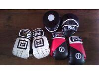 Boxing Gloves 14 oz. + Pads Set