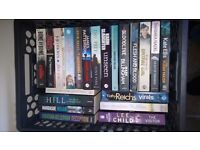 A job lot of various books - Thrillers Romance Biographic Action - Offer on lot