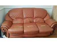 Leather Sofa brown. Free.
