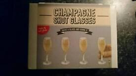 Champagne shot glasses £5