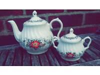 Normandy teapot and Sugar bowl