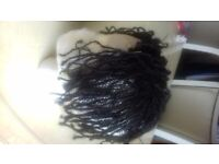 Small loc/Sisterlock extensions: thinning bald spot coverage using own loc /faux loc handmade pieces