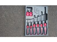 Snap on screwdrivers set