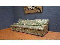 Retro Vintage Mid Century Green 3/4 Seater Sofa????