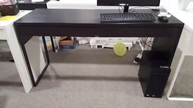 Black Ikea Mickle desks office, home, student, two draws