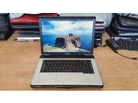 Toshiba satellite pro l300 windows 7 80g hard drive 2g memory wifi dvd drive comes with charger