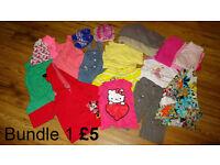 Bundles of girl clothes