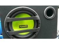 fusion sub with built in amp
