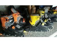 Roller in line skates