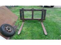Pallet Tines. 3 Point Linkage For Tractor.