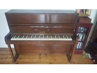 Mahogany o/strung piano free to collect from Croydon area - free delivery within 3 miles