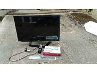 Smart TV 32 inch with stand 3d glasses remote and cleaning cloth