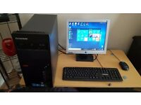 Refurbished, upgraded Lenovo Gaming PC W10 wireless Intel 2.5 Quad Core 8GB ram gaming graphics card
