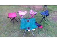 4 x camping stools and table