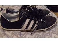Adidas neo 3 stripe sneakers trainers shoes