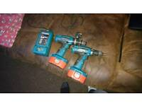 2 makita drills we charger need new battery charger drills work perfect