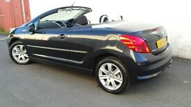 TOTALLY OUTSTANDING,2008 PEUGUEOT 207CC CONVERTIBLE,ONLY 56000 MILES,mx5,z3,z4,tt,bmw,x5,clio,corsa,