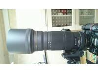 Sigma 120-300 f2.8 OS Nikon fit with apo 1.4 converter mint- condition.