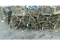 16 steel lobster pots creels for fishing boat