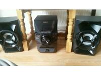 Stereo unit with I pod or I phone docking station