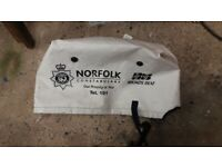 Small outboard motor cover.