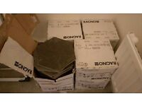 Stone grey hexagon medium size porcelain tiles - approx 100