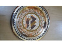 Vintage hand made egyptian wall plates