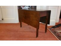 Antique Georgian mahogany gateleg table, over 200 years old, in beautiful condition, seeks new home.